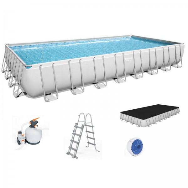 Bestway Power Steel Frame Rectangular Pool Set 56623 956x488x132 cm