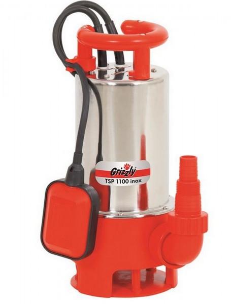 Grizzly Schmutzwasser Tauchpumpe TSP 1100 Watt Inox 20.000l/h Schmutzwasserumpe