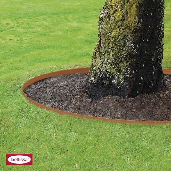 bellissa Rasenkante CORTEN aus Metall - 91011 - Cortenstahl - 118 x 13 cm