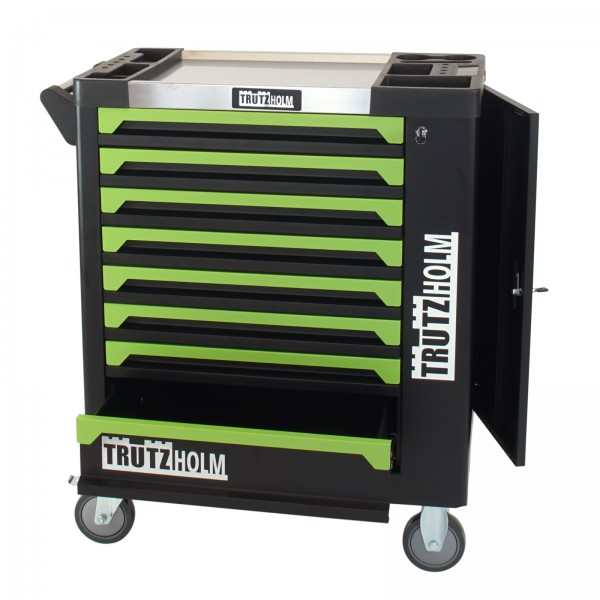 TrutzHolm® Werkstattwagen Grün Leer 8 Schubladen robust und vielseitig einsetzbar Werkzeugwagen