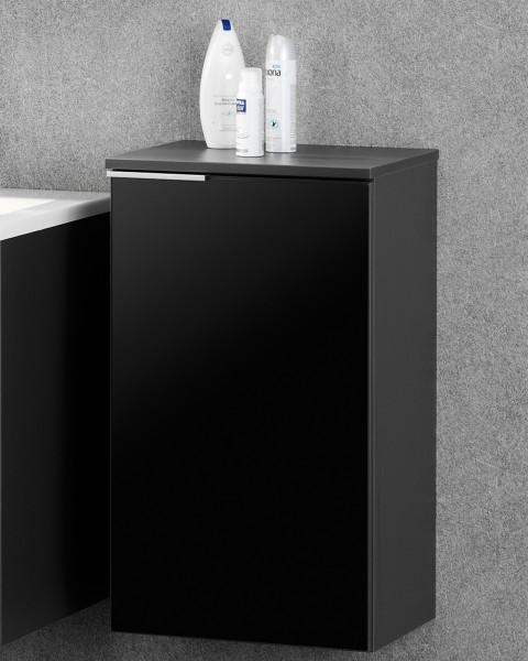 Fackelmann Kara Unterschrank anthrazit Badmöbel Gäste-WC rechts