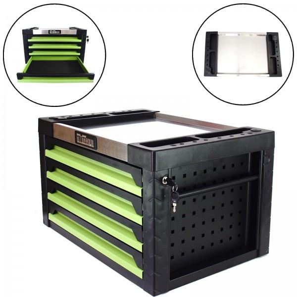 Trutzholm® Werkzeugkiste Werkstattwagen Aufsatz Werkzeugkasten 4 Schubladen leer