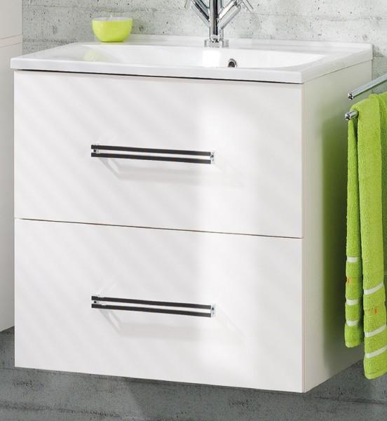 Fackelmann Waschtischunterschrank Badmöbelschrank COMO Weiß 80 cm 73823