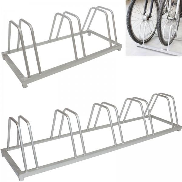 Fahrradständer für 3 oder 5 Fahrräder Höhe 33,7 cm feuerverzinkt Aufstellständer