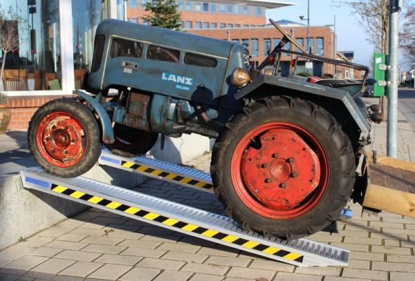2x TrutzHolm® Profi Alu Auffahrrampe Rampe Verladerampe ca. 255 cm bis3.300 kg/Paar