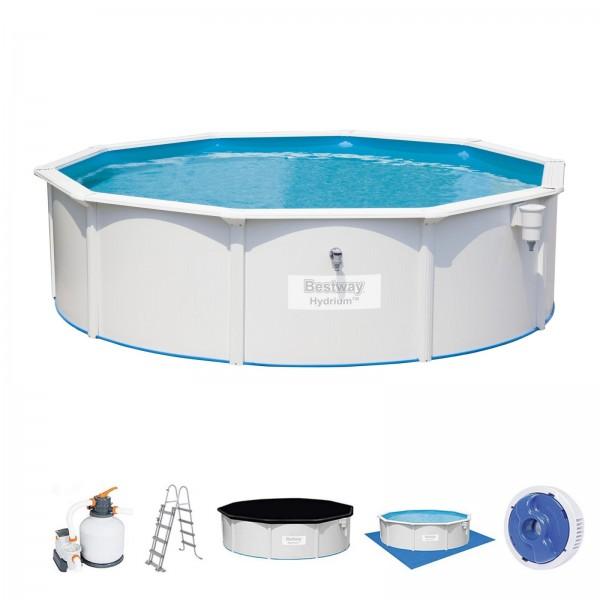Bestway Hydrium Pool Set 56384 460x120cm Stahlwandpool-Set