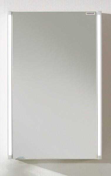 Fackelmann Spiegelschrank LED 43 cm weiß glanz Bad Schrank Spiegel Badmöbel