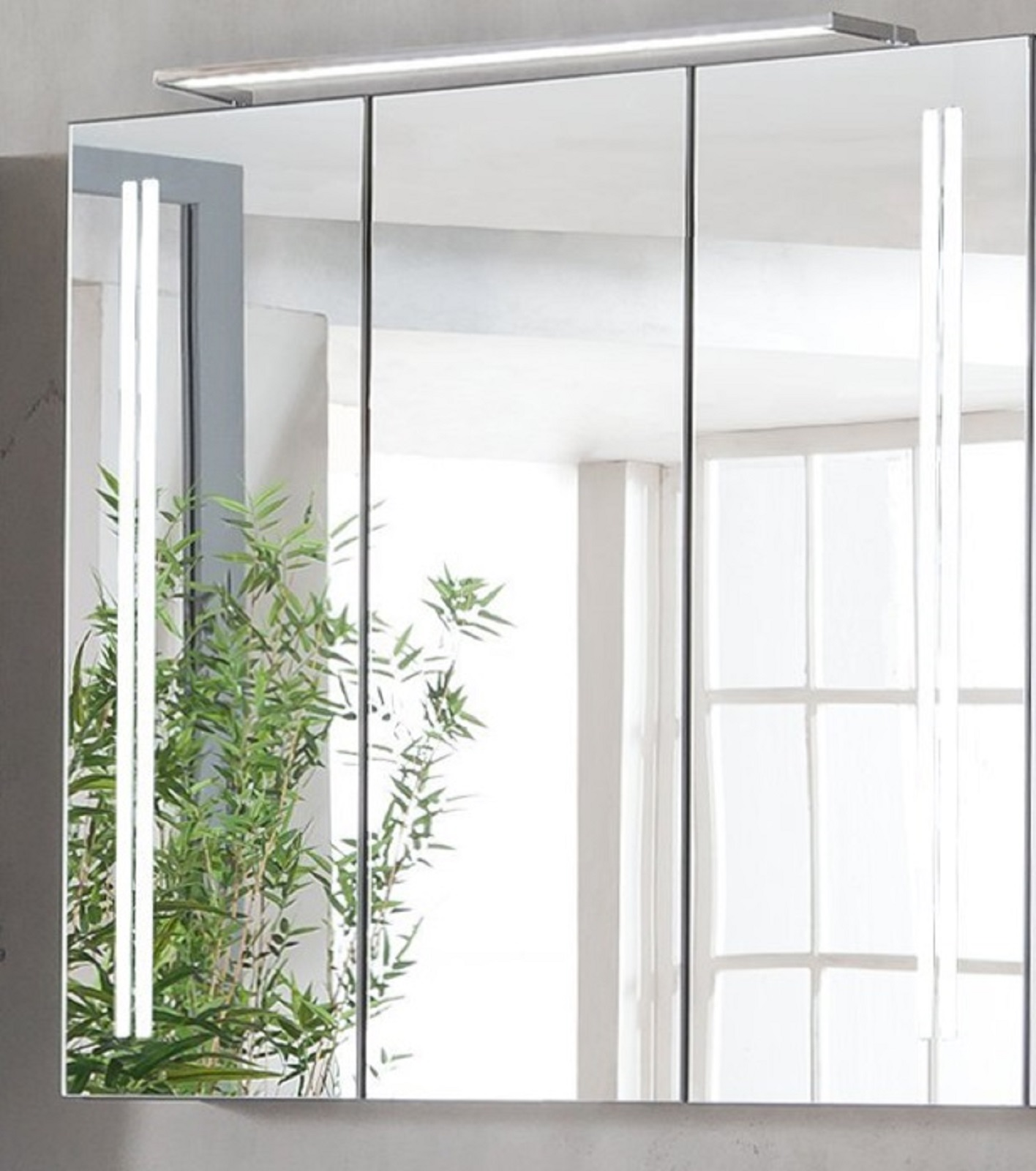 Vorschau: Fackelmann Spiegelschrank LED LG 80 Badschrank Mit Beleuchtung 80  Cm Pinie ...