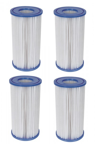 4x Bestway Filterkartusche Gr.3 für Quick Up Pool Filterpatrone 58012