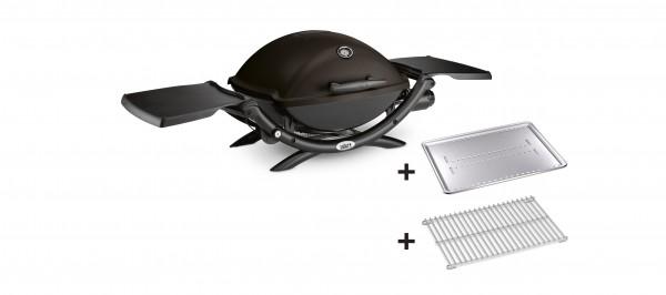 Weber® Gasgrill Q 2200, Black mit Hitzeschild und Bratenrost, 54012379