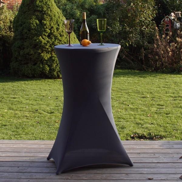 Stehtischhusse Husse Partytisch Bistrotisch Tischdecke Decke 60cm GRAU