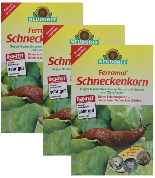 Neudorff Ferramol Schneckenkorn Schneckengift 3x 1 kg