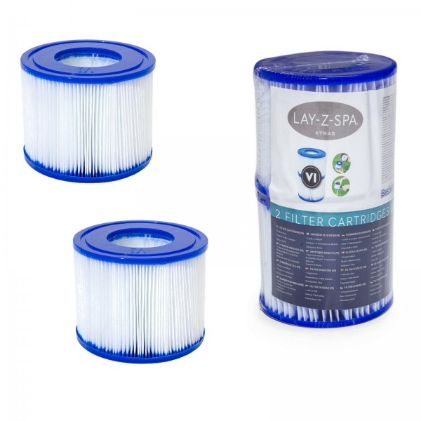 2 Stück Bestway Filterkartusche Gr.6 Lay-Z-Spa 60311