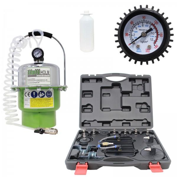 TrutzHolm® Bremsenentlüftungsgerät Bremsenentlüfter 5 Liter Druckluft Bremsflüssigkeit