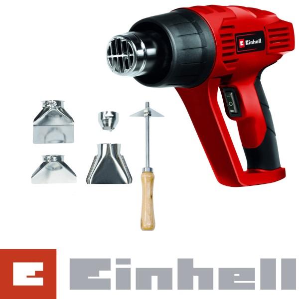 Einhell Heißluftpistole TH-HA 2000/1 im Koffer + Zubehör, 2 Heizstufen