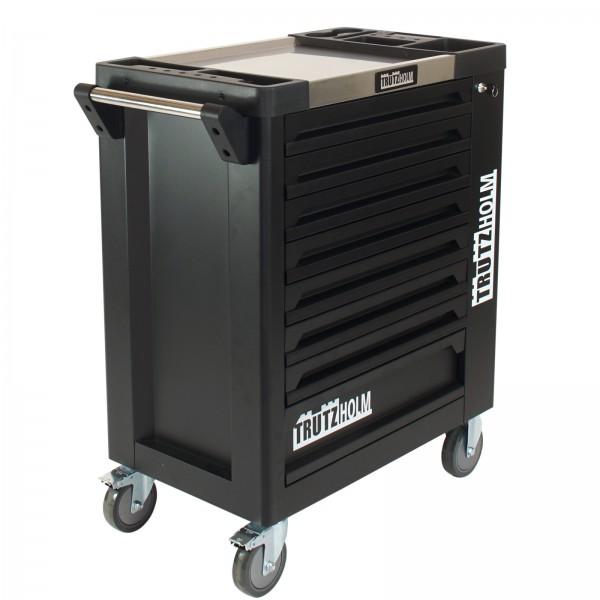 TrutzHolm® Werkstattwagen Schwarz Leer 8 Schubladen robust und vielseitig einsetzbar Werkzeugwagen