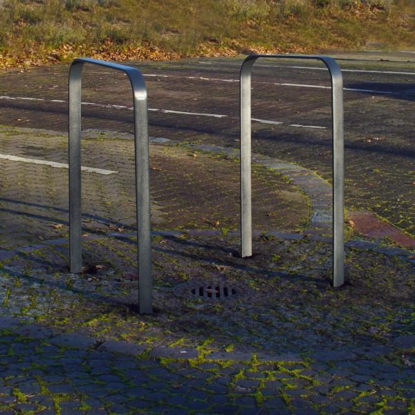 2x Fahrrad Anlehnbügel zum Einbetonieren aus Flachstahl Fahrradständer Anlehnständer Poller Baumschu