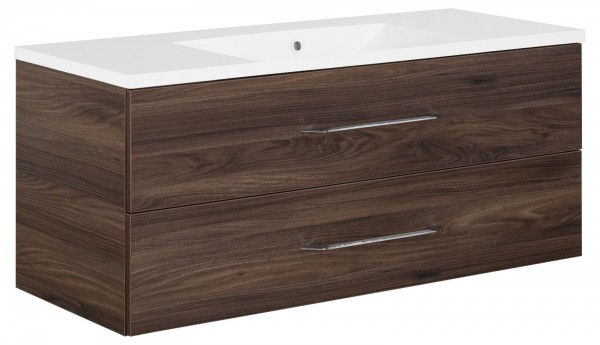 Fackelmann B.Clever Set Becken + Waschtischunterschrank 120x51x46 Ulme-Madera