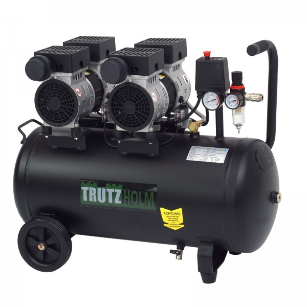 Trutzholm Flüsterkompressor 50l Kompressor leise 1500W 62dB 8 bar TH-fk 50l