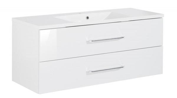 Fackelmann B.Clever Set Becken + Waschtischunterschrank 120x51x46 weiß
