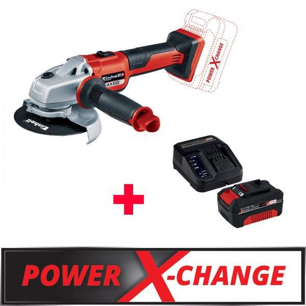 Einhell TE-AG 18/125 Akku-Winkelschleifer AXXIO + 18V 3,0Ah PXC Starter Kit