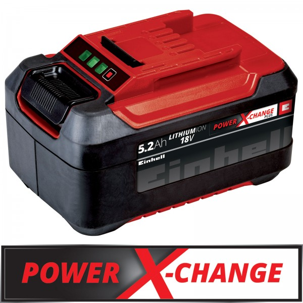 Einhell 18V 5,2 Ah Power-X-Change plus LI-ION Akku Batterie