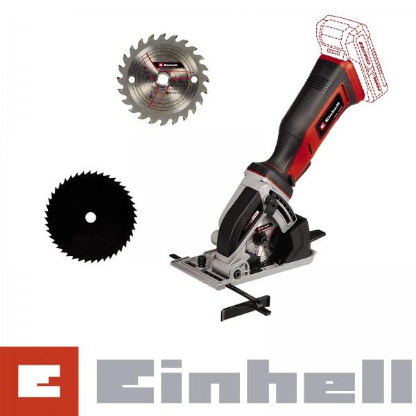 Einhell Akku-Mini-Handkreissäge TE-CS 18/89 Li-Solo Ø Sägeblatt 89 mm Schnitttiefe 28 mm