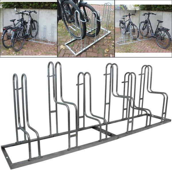 B-Ware Fahrradständer Reihenparker für 6 Fahrräder feuerverzinkt 2x3 Mehrfachständer Radständer
