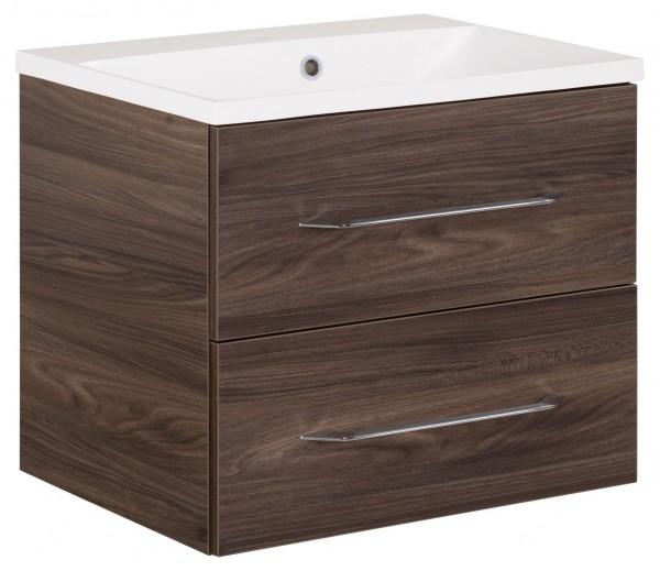Fackelmann B.Clever Set Becken + Waschtischunterschrank 60x51x46 Ulme Madera