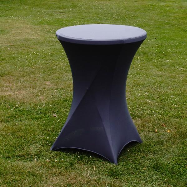 Stehtischhusse Stretch grau Partytisch Bistrotisch 80cm