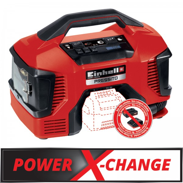 Einhell Hybrid-Kompressor Pressito solo Power X-Change 11 bar