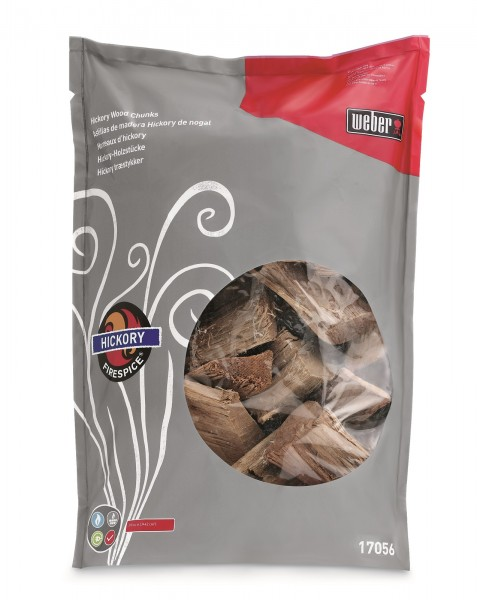 Weber Wood Chunks Hickory Fire Spice Chips Räucherholz 17056
