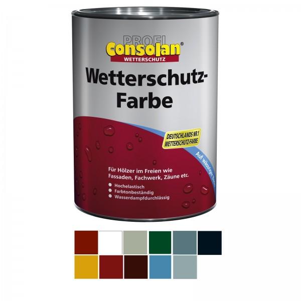 Consolan Wetterschutzfarbe 10 L Farbauswahl Wetterschutz Holzfarbe Deckfarbe