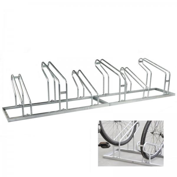 Fahrradständer für 6 Fahrräder Hoch Tief 2x3 Fahrrad Ständer Aufstellständer feuerverzinkt