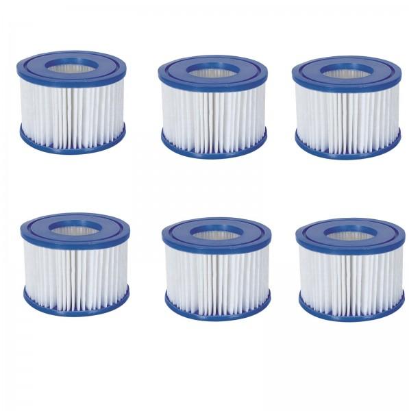 6x Bestway Filterkartusche Poolfilter Filter Ersatzfilter Lay-Z-Spa Gr. 6 58323