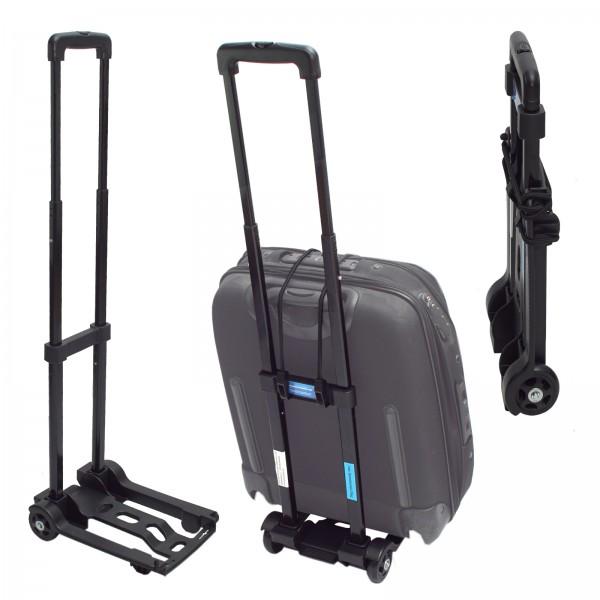 Mini Sackkarre klappbar Koffer - Trolley 25Kg Gepäckkarre Griff höhenverstellbar Transportkarre Getr