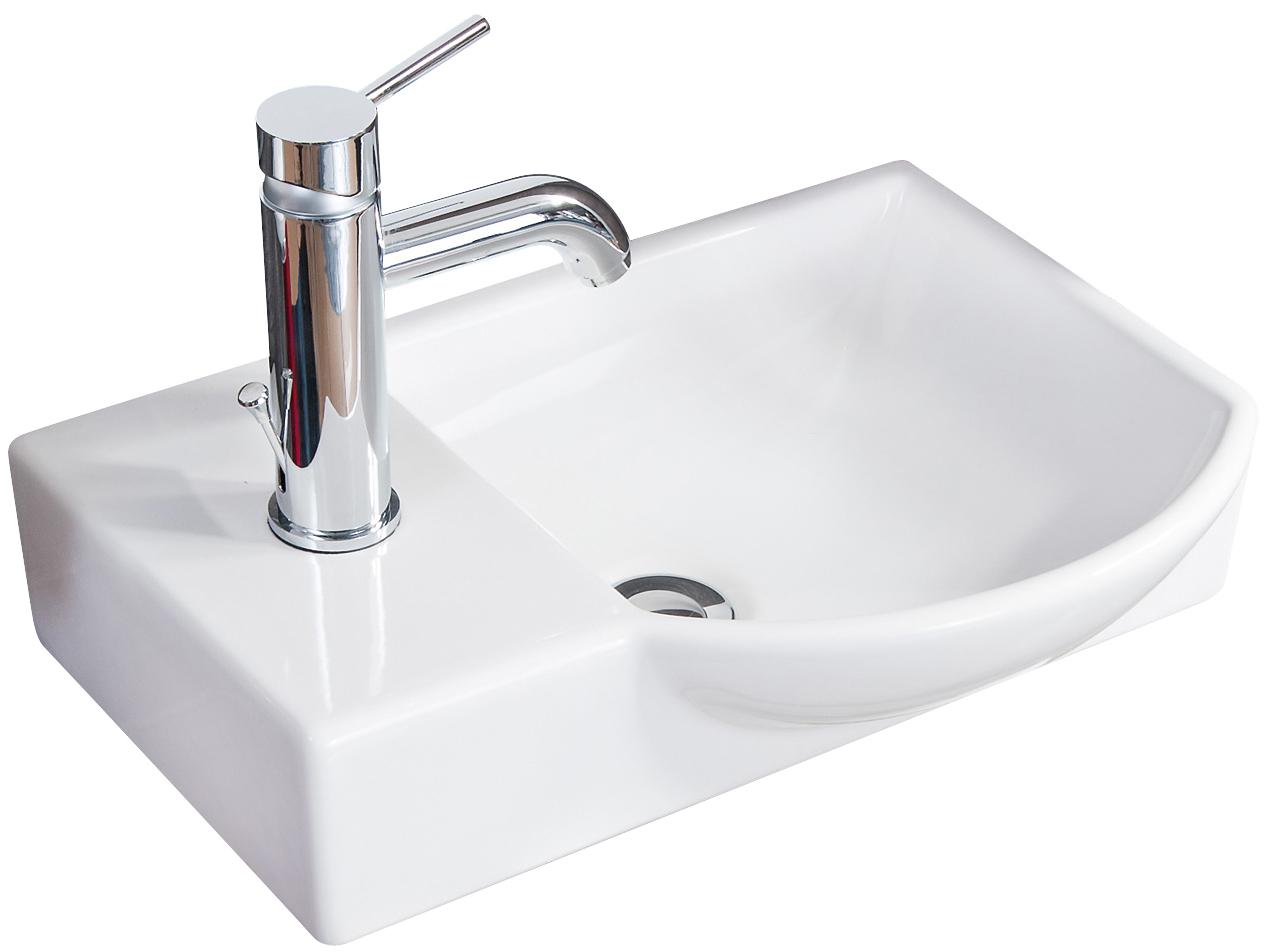 Fackelmann Waschbecken Becken rechts Badmöbel Gäste WC 45 cm Waschtisch