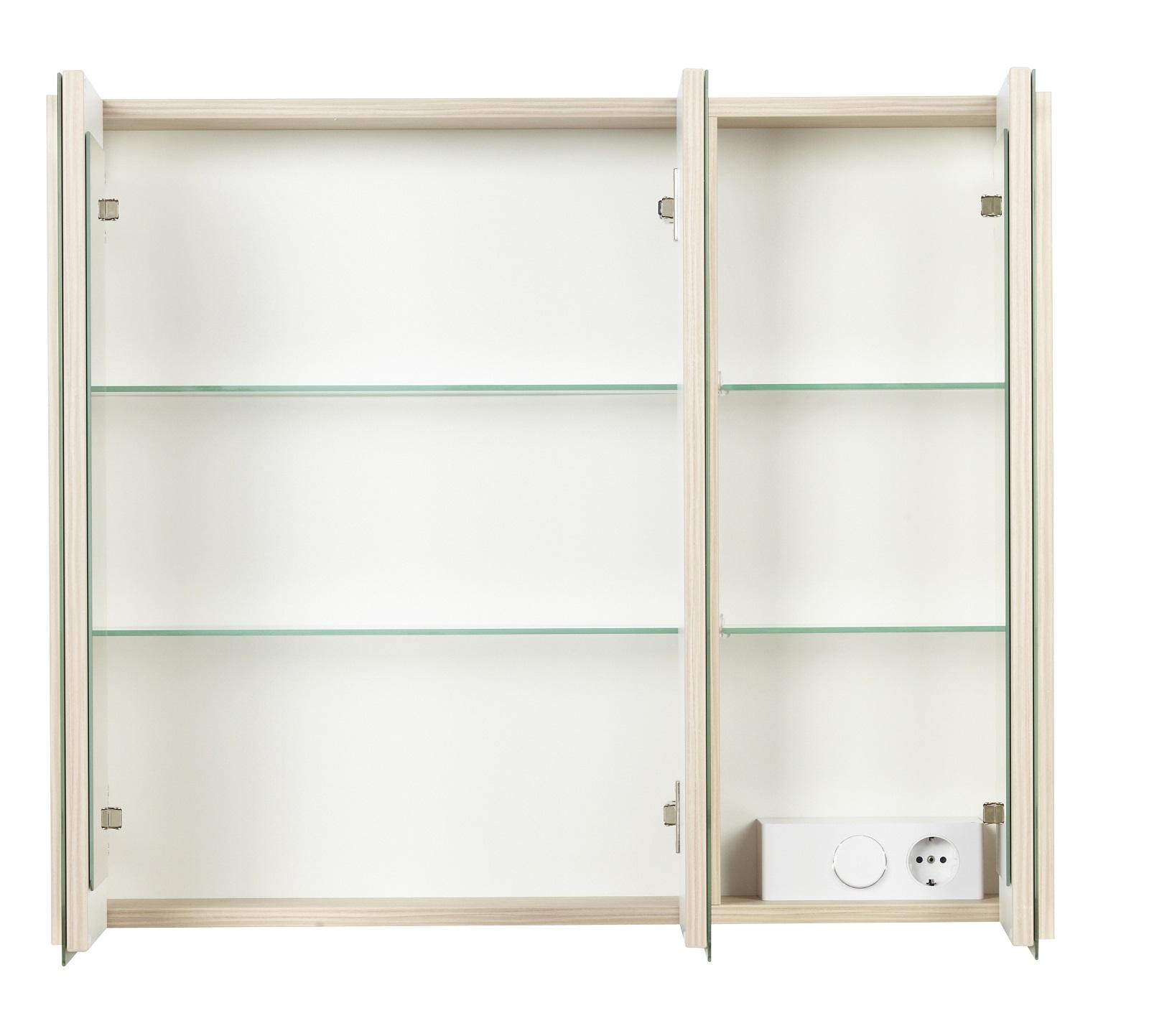 fackelmann spiegelschrank led viora 79 5 cm pinie bad schrank spiegel badm bel ebay. Black Bedroom Furniture Sets. Home Design Ideas