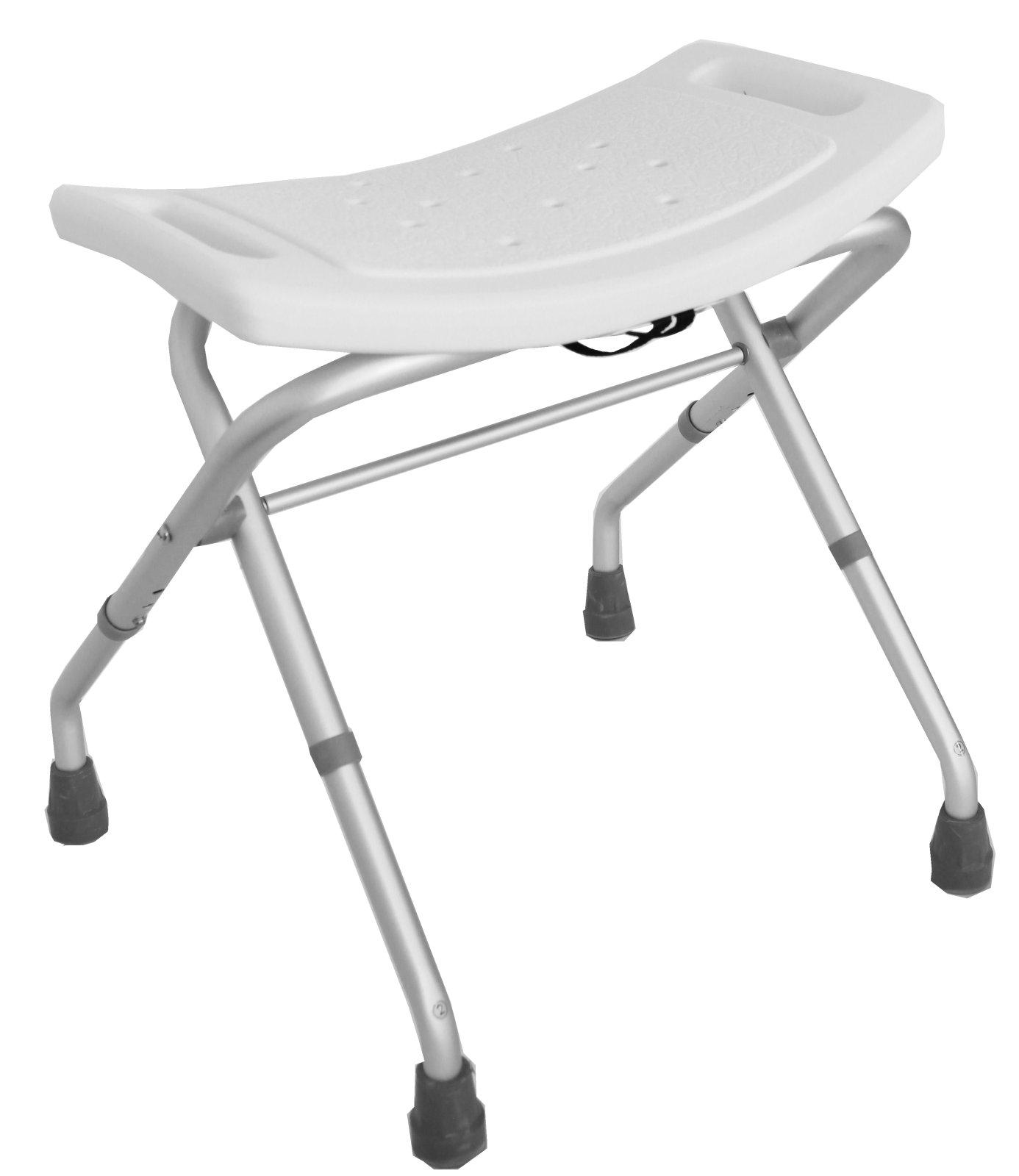 duschstuhl klappbar badhocker badestuhl duschhocker 150 kg klappstuhl ebay. Black Bedroom Furniture Sets. Home Design Ideas